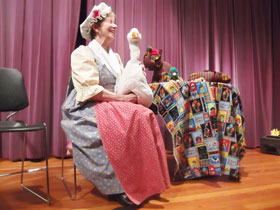 Trudy Bulkley Telling as Mother Goose